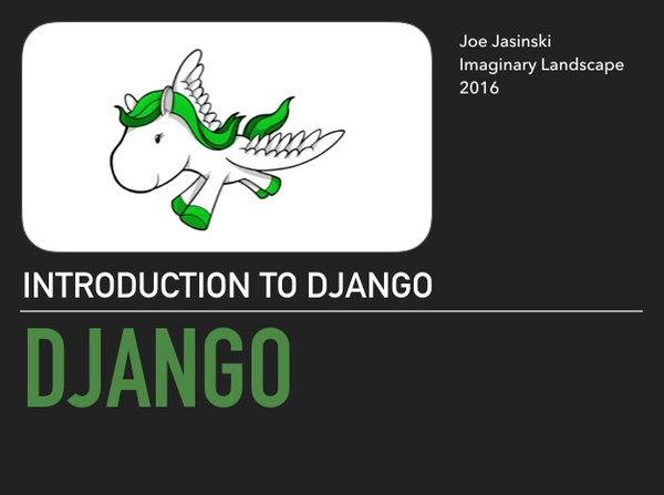DePaul 2016: Intro to Django Guest Lecture